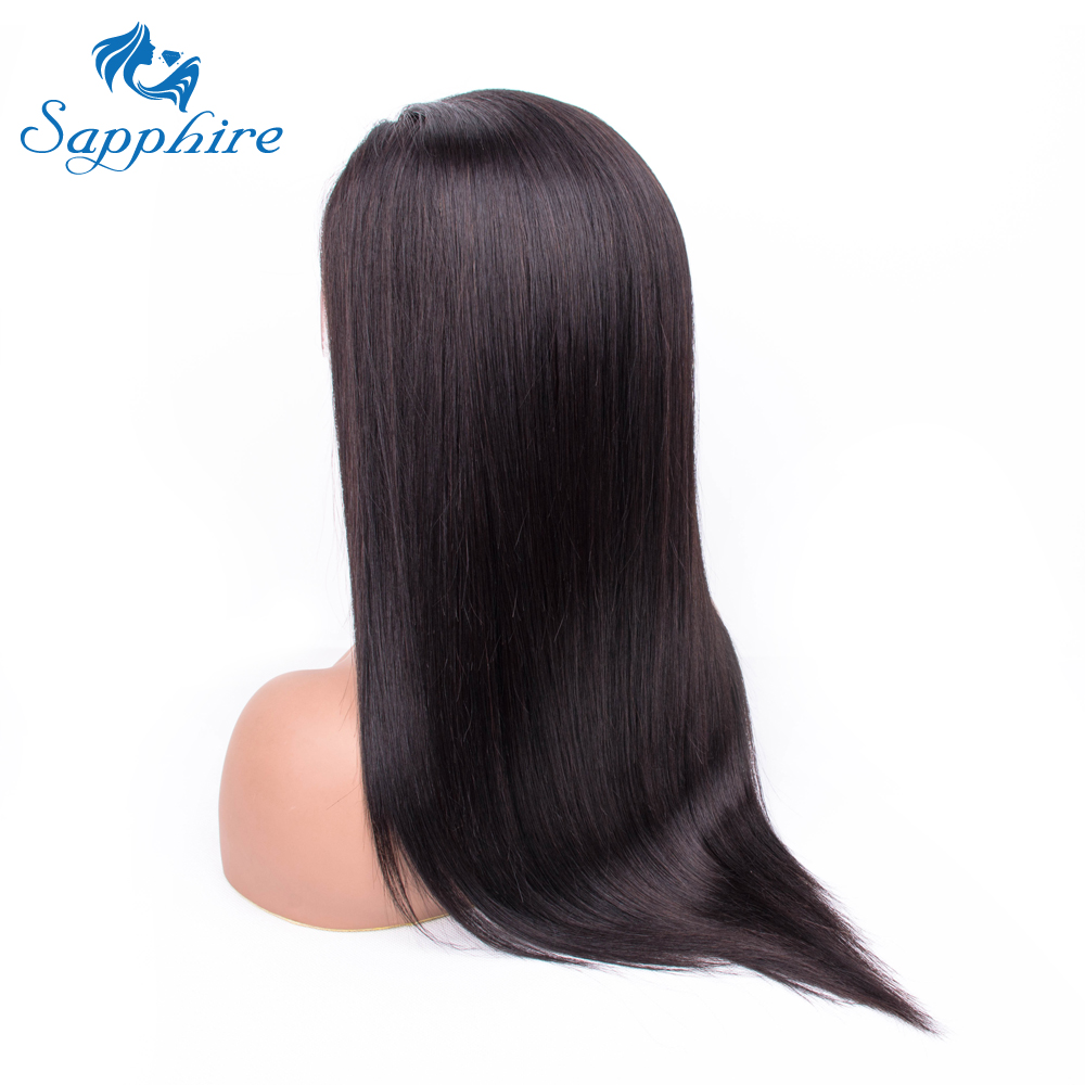 Sapphire Lace Wigs 13*4 Lace Frontal Human Hair Wigs For Women Pre Plucked Peruvian Straight Lace Frontal Wig With Baby Hair