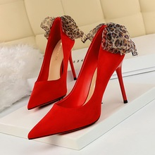 Big tree shoes woman wedding  heel dress shoes women's high heels shoe and bag set green shoes for women sexy high heel women