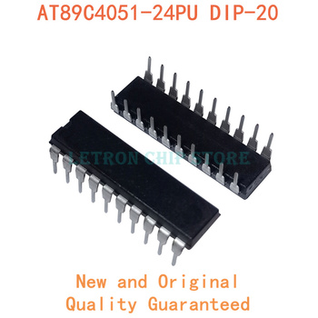 10pcs/lot AT89C4051-24PU AT89C4051 24PU DIP20 DIP-20 IC MCU 8BIT 4KB FLASH 20DIP 89C4051 AT89C4051 image