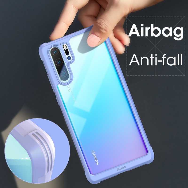 ASINA Bumper Case For Huawei P30 Pro Silicone Luxury Shockproof Transparent Phone Case For Huawei Mate 20 Pro P30 Coque Capa