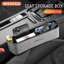 Car Seat Gap Organizer Car Chair Crevice Storage Box Seat Gap Slit Pocket Catcher Organizer Storage Key Wallet Card Phone Holder