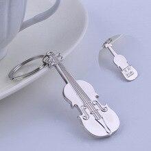 Блестящий боковой брелок-гитара Музыка Скрипка брелок напрямую от производителя творческих настраиваемых надписей подарок GX-028