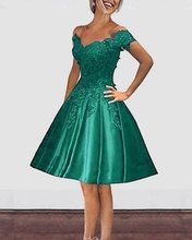 New Off Shoulder Burgundy Emerald Green Red Royal Blue Short Prom Dresses Lace Appliques Girls Homecoming Graduation Gowns Vestidos de Festa