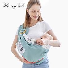 Honeylulu Baby Wrap Carrier Newborn Sling Dual Use Infant Nursing Cover Carrier Cotton Four Seasons Breastfeeding Carrier 0-36M