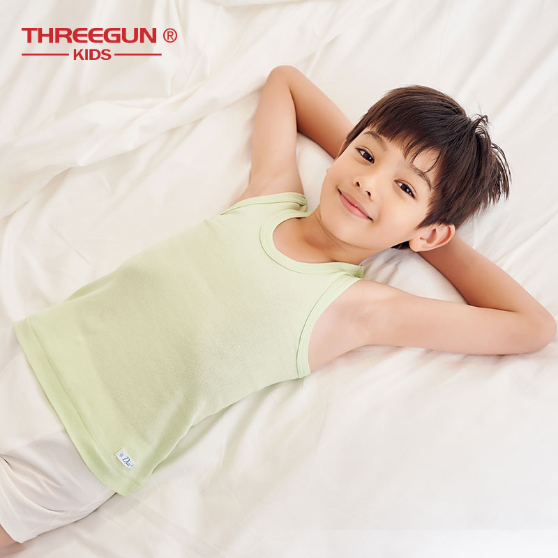THREEGUN Children Boys Tank Tops Kids Casual O Neck Undershirt Top Summer  Boy White Camisoles Cotton Tank Top Underwear Tanks & Camis  - AliExpress