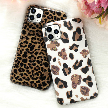 Leopard Fake Glitter Case for IPhone 11 Pro Max X XR XS 7 8 Plus 6 6S SE2020 12 Mini Slim Rubber Soft Phone Cover Funda Coque 1