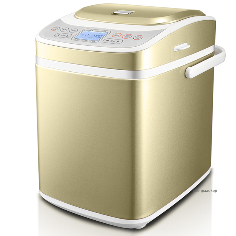 Fully Automatic Feeding Fruit Bread Machine Double-tube Heating Multi-function Intelligent Kneading Dough Bread Roaster 220V