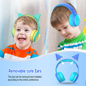 Image 5 - Gorsun E61 Child Headphone bluetooth5.0 Bass headset stereo cat ear earbuds Foldable 3,5mm AUX for phone MP4 for girl boy gift