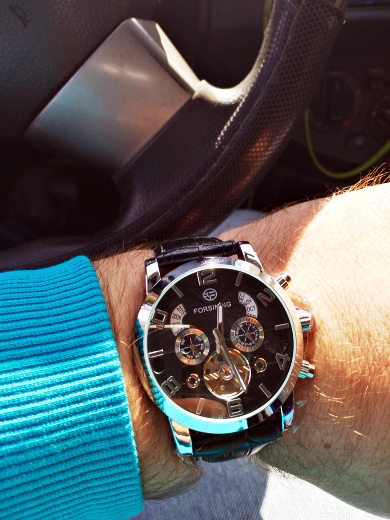 Ha835b0d2bc3040a3ad9efc8ce4520057q Forsining Tourbillion Fashion Wave Black Golden Clock Multi Function Display Mens Automatic Mechanical Watches Top Brand Luxury