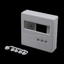1pc 86 caixa de projeto plástico branco caso gabinete com botões caso para diy lcd1602 medidor testador com botão 8.6x8.6x2.6cm