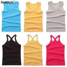 Kids Vests Cotton Solid  Tops For Boys Girls Underwear Girls Camisole Kids Undershirt Child Summer Singlets Boy Girl 2-12Y