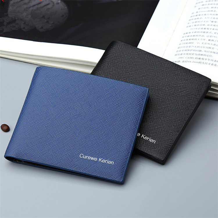 New Fashion PU Leather Business Men's Wallet Short Thin Wallet Casual Multifunctional Card Holder Card Holder Men's Coin Purse