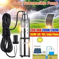 High Lift 60m 24V/48V Solar Submersible Water Pump High Pressure DC Pump Deep Well Pump Agricultural Irrigation Garden Home