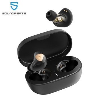 SoundPEATS Truengine 3 SE True Wireless Earbuds Bluetooth Dual Mic CVC 8.0 aptX Dual Dynamic Drivers with Crossover Smart Touch
