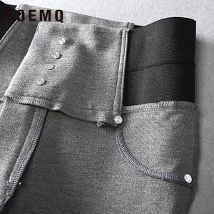 Image 5 - AOEMQ Fashion Cotton Soft Flat Pants 2 Colors Casual Sports PE Class Wear Pencil Pants Trousers Elastic Force Slim Pants