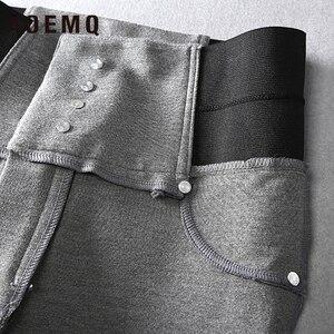 Image 5 - Aoemq Thời Trang Thun Cotton Mềm Mại Quần Phẳng 2 Màu Sắc Giày Thể Thao PE Lớp Mặc Quần Bút Chì Quần Dài Thun Lực Quần Ôm