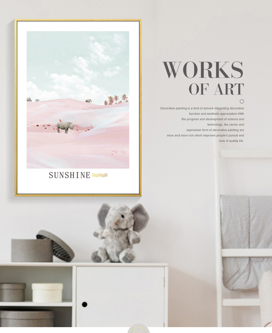 Modern Light Pink Nordic Abstract Scene Gallery Canvas Painting Wall Art Prints Posters Picture Living Room Interior Home Decor Aliexpress