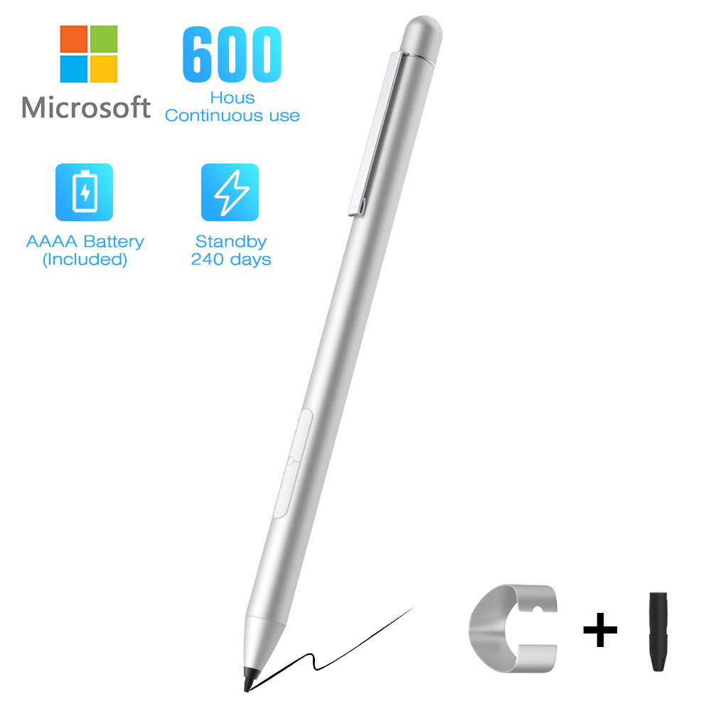 Active Stylus Pen,Microsoft Stylus Pen for Surface Pro 6 Book 1,Surface Go,1024 Level Pressure Sensitivity Pro 4 Platinum Pro 5 Surface Laptop 2,Surface Book 2 Surface 2019 Pen Pro 3