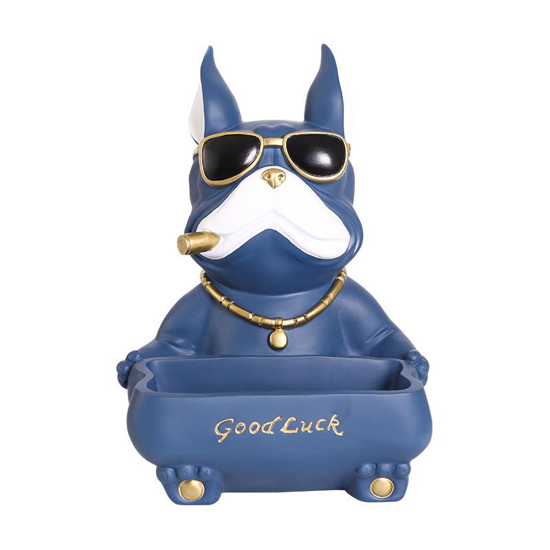 Bulldog Statue Home Decor Cool Dog Storage Home Decoration Animal Entrance Door Key Tray Tissue Box Sexual Home Decorations Just6F