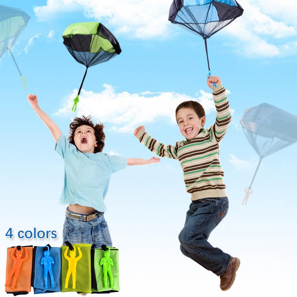 Children's Parachute Kindergarten Hand Throw Parachute Square Beach Hand Throw Funny Toy Kid Outdoor Game Play Educational L0218