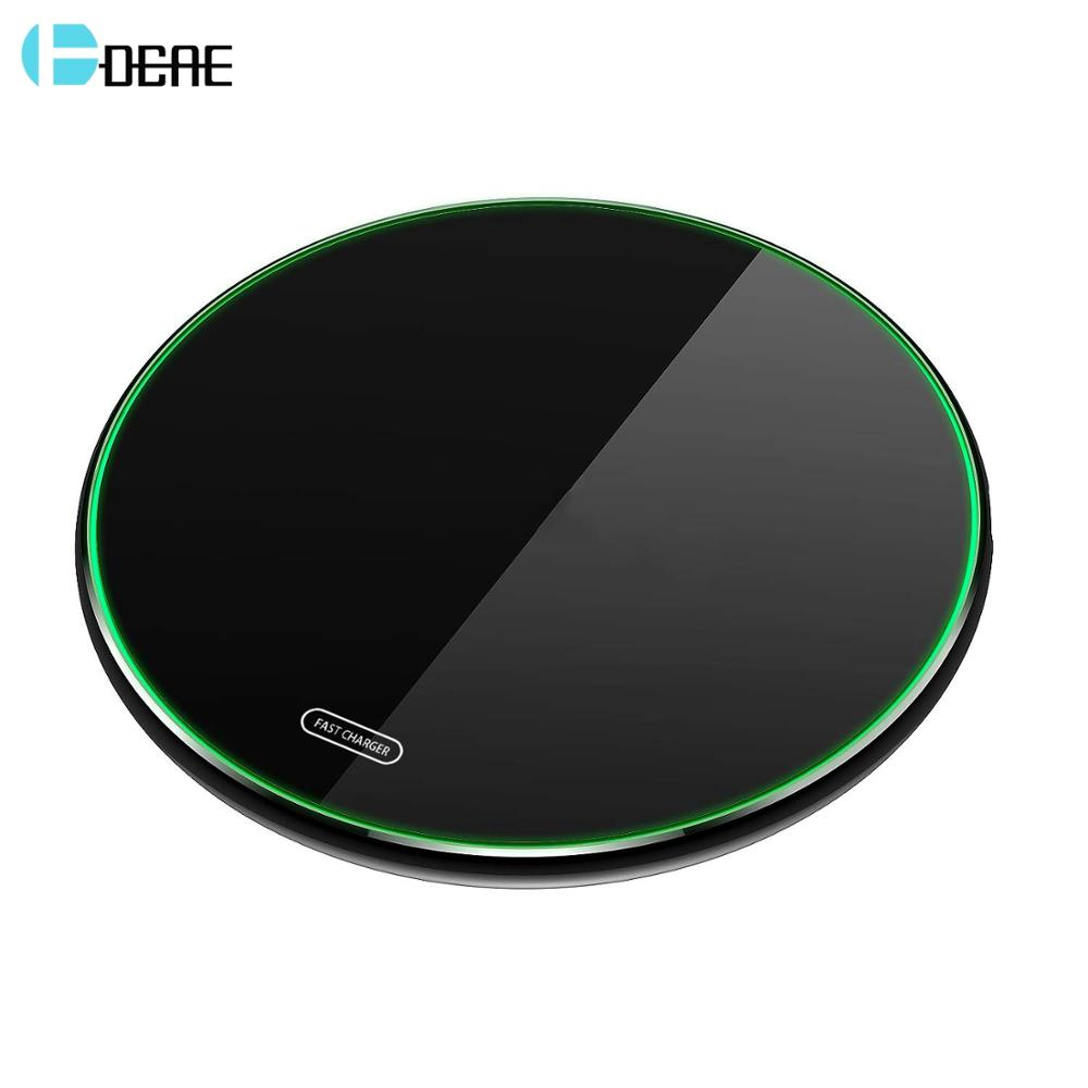DCAE 10W Wireless Charger Pad Qi Quick Charge USB Fast Charging For IPhone 11 Pro X XR XS 8 Samsung S10 S9 Note 10 9  Xiaom Mi 9