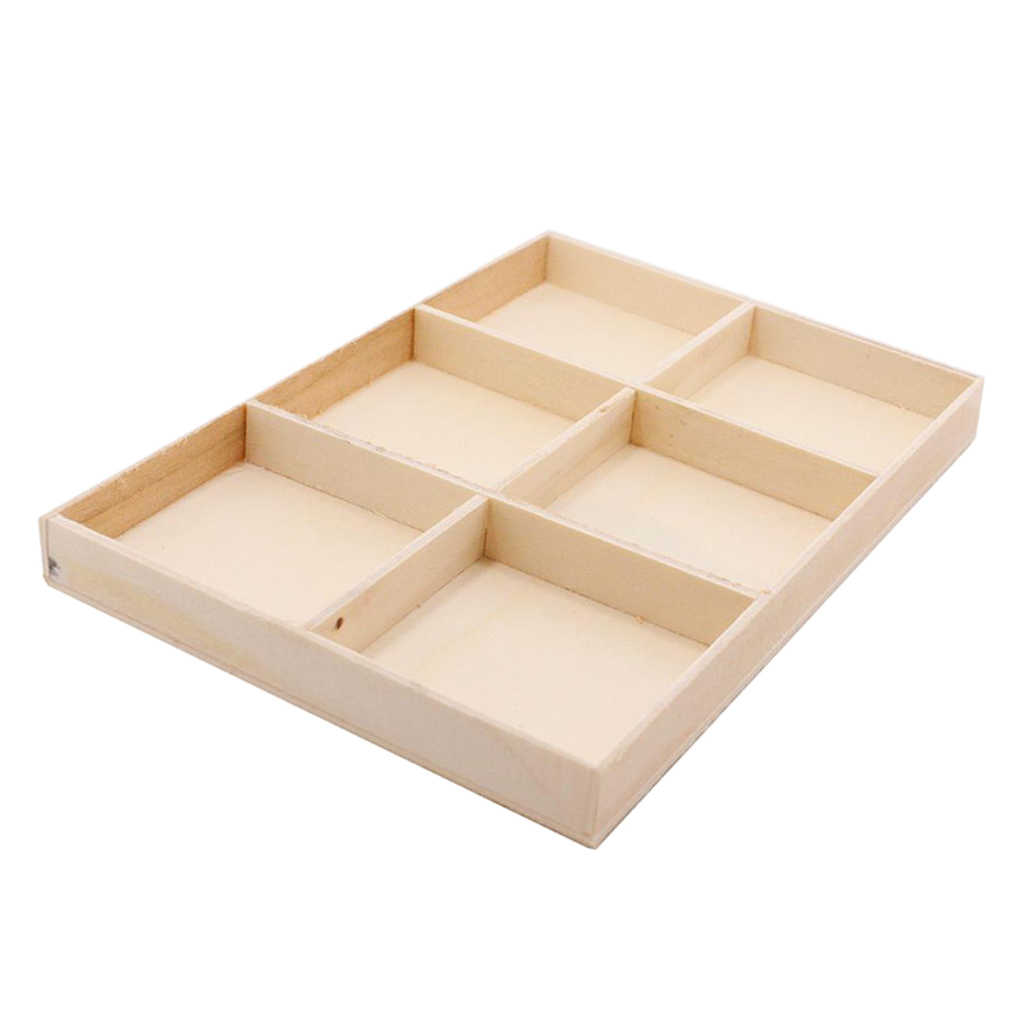 Wooden Desktop Office Supply Caddy