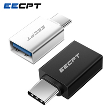 EECPT USB Type C OTG Adapter USB C to USB 3.0 OTG Type C Converter for Macbook Samsung S10 S9 Huawei Mate 20 P20 USB C Connector