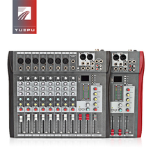 YUEPU RU-8T Professional Sound Audio Mixer 8 Channel 48V Phantom Power Reverbration Mixing Console MP3 Player USB Music For DJ yuepu ru 8ts professional sound audio mixer 8 channel 48v phantom power reverbration mixing console player usb music for dj