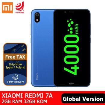 Перейти на Алиэкспресс и купить Xiaomi Redmi 7A 3 ГБ ОЗУ 32 Гб ПЗУ мобильный телефон Snapdragon 439 Восьмиядерный аккумулятор 4000 мАч 13MP камера заднего вида