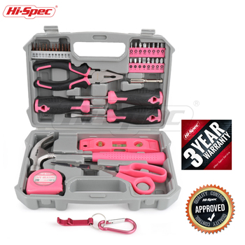 Hi-Spec 42 Pcs Hand Tool Sets Household Home Repair Tool Set Screwdriver Tool Box Set Scissors Claw Hammer Tools For Home Use hand tool sets matrix 13562