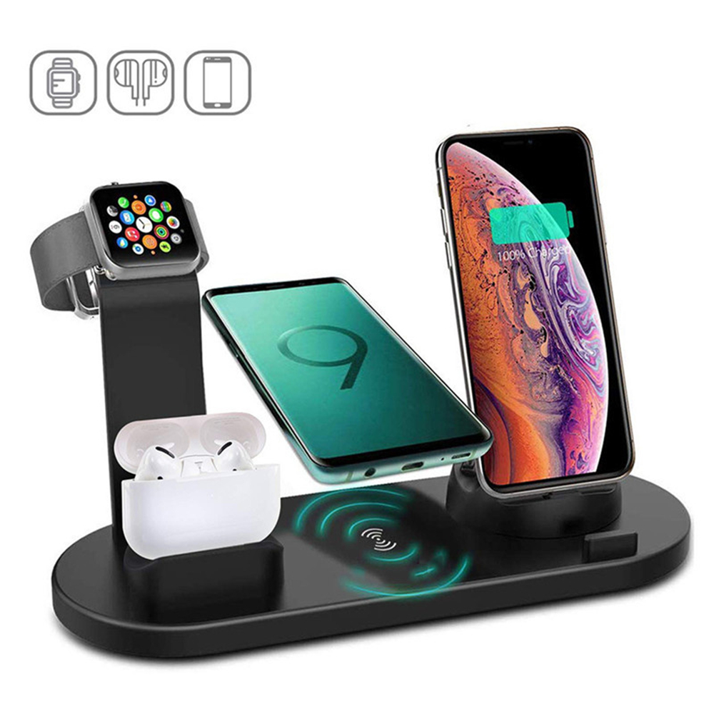 3 in 1 Wireless Charger Dock Station Micro USB Type C Stand Fast Charging For iPhone Apple Watch Charger