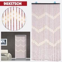 90x175 см 27 линия волна деревянные бусины занавес ручной работы Fly Экран деревянные двери шторы Жалюзи для балкон спальни перегородка для гостиной