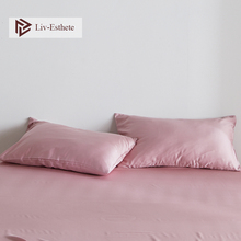 Liv-Esthete Luxury Noble Pink 100% Silk Multicolor Pillowcase Nature 25 Momme Silk Healthy Standard Pillow Case Free Shipping