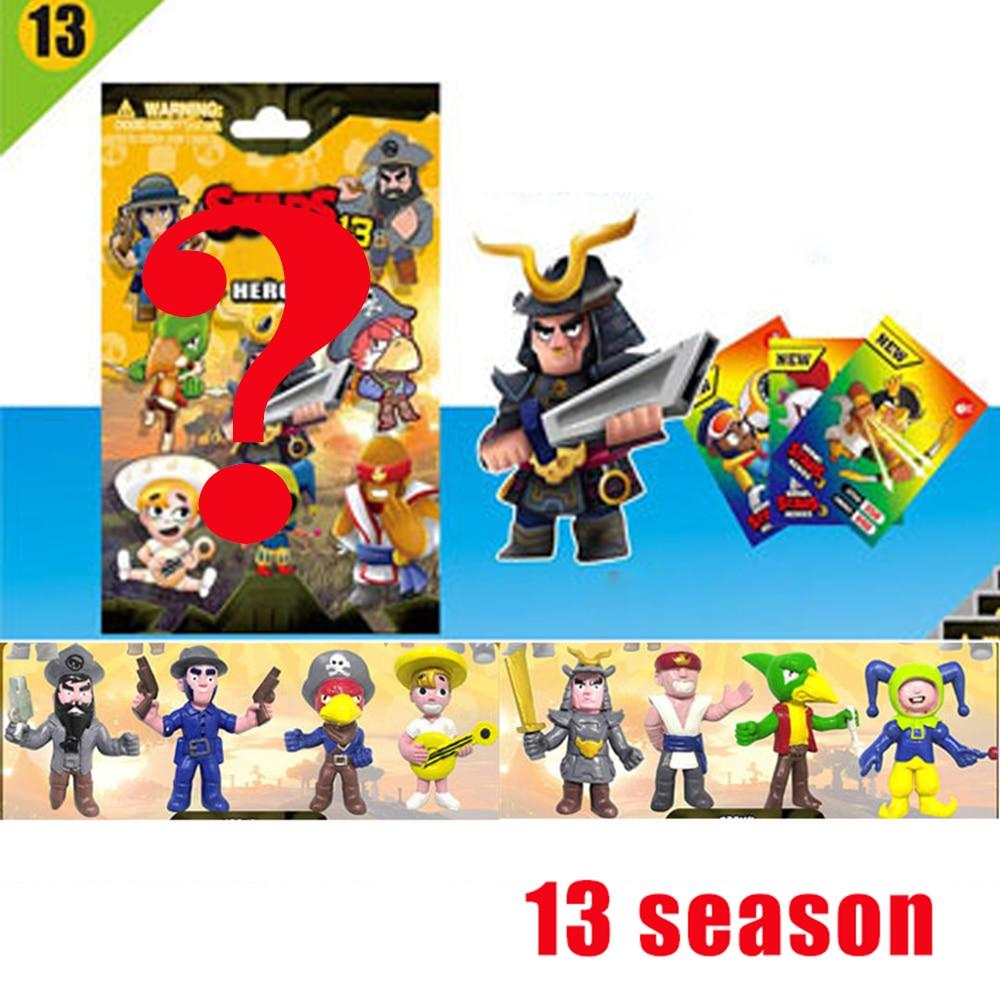 24Pcs Brawl 13 Season Figure Toys Amine Star Game Poco Shelly Nita Colt Jessie Brock Blind Bag Block Action Figure Model Toy