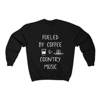 ONSEME Crewneck Sweatshirt Women Enjoy Coffee Country Music Graphic Hoodies Pullovers Tracksuit Streetwear Clothes Kawaii S 62