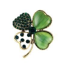 WEIMANJINGDIAN Brand New Arrival delikatne zielone cyrkonie liść przypinki na klapę elegancki płaszcz biżuteria dekoracyjna akcesoria