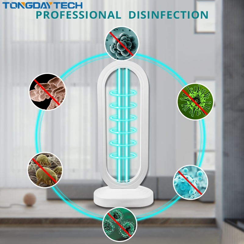 Tongdaytech Uv Light Sterilizer 50W UV Disinfection Light High Ozone UVC Germicidal Lamp Kill Bacterial Ozone Lamp For Dorp Ship