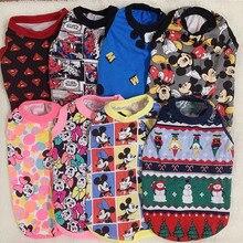 Супермен, Микки, Минни Маус, летняя одежда для собак, футболка для маленькой собачки, одежда для домашних животных, куртка для собаки, одежда для чихуахуа