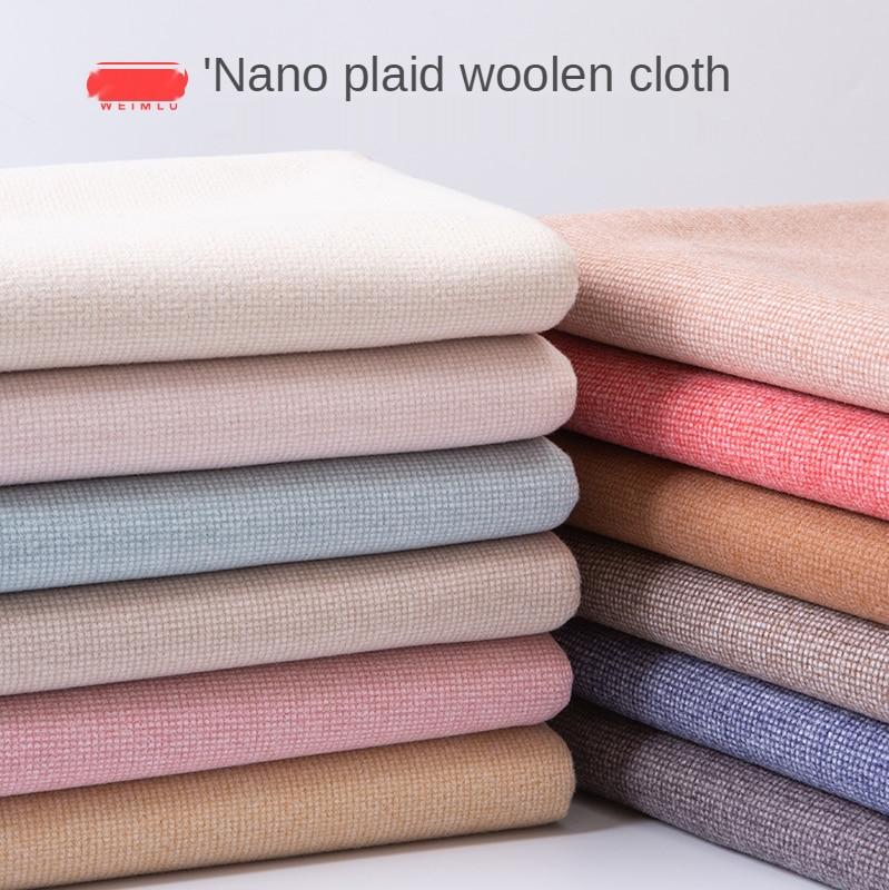 Engrossado dupla face grade tecido de lã cashmere lixa casaco saia roupas xadrez brocado tecidos para costura poliéster diy