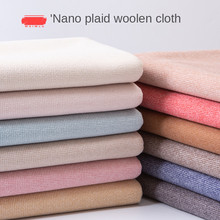 Thickened double-sided grid woolen fabric cashmere Sanding coat skirt clothing plaid brocade fabrics for sewing diy Polyester