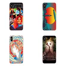Para Samsung Galaxy Note 5 8 9 S3 S4 S5 S6 S7 S8 S9 S10 5G mini Borda Mais lite TPU Tampa Da Caixa de Moda Escola De Rock Led Zeppelin(China)