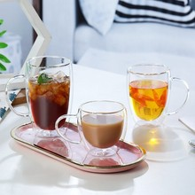 Wine glasses Double bottom glass Creativity whiske vodka mugs Tea coffee cup Drinking water juice milk mug for home