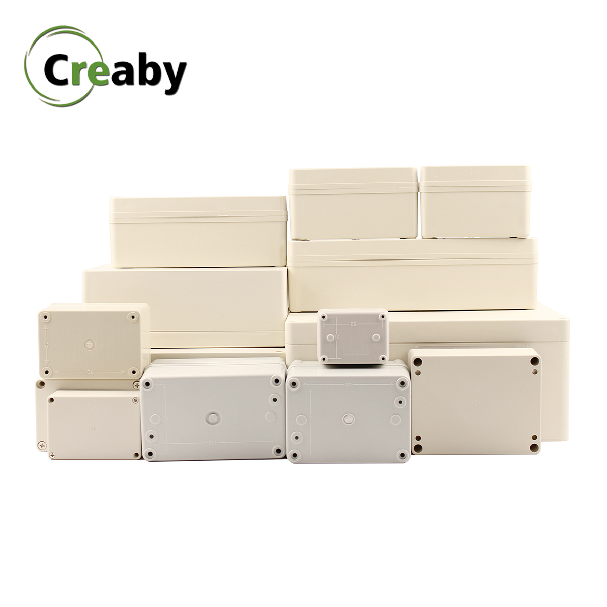 1PC DIY Electronic Box ABS Plastic Waterproof Junction Box Electrical Transparent Cover Enclosure Waterproof Junction Case