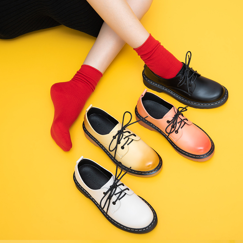 Women Oxford Spring Shoes  Leather Loafers For Woman Sneakers Female Oxfords Ladies Single Shoes 2020 Laces Up  Summer Shoes