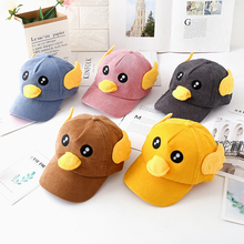 2019 new childrens spring and autumn baseball cap boys cute caps female baby kids hat tide vocal