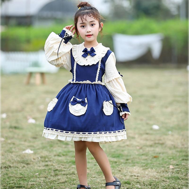 Japanese JSK Sweet girls lolita dress Kids Kawaii dress Maid outfit victorian dress gothic dress tutu dress lolita cosplay dress