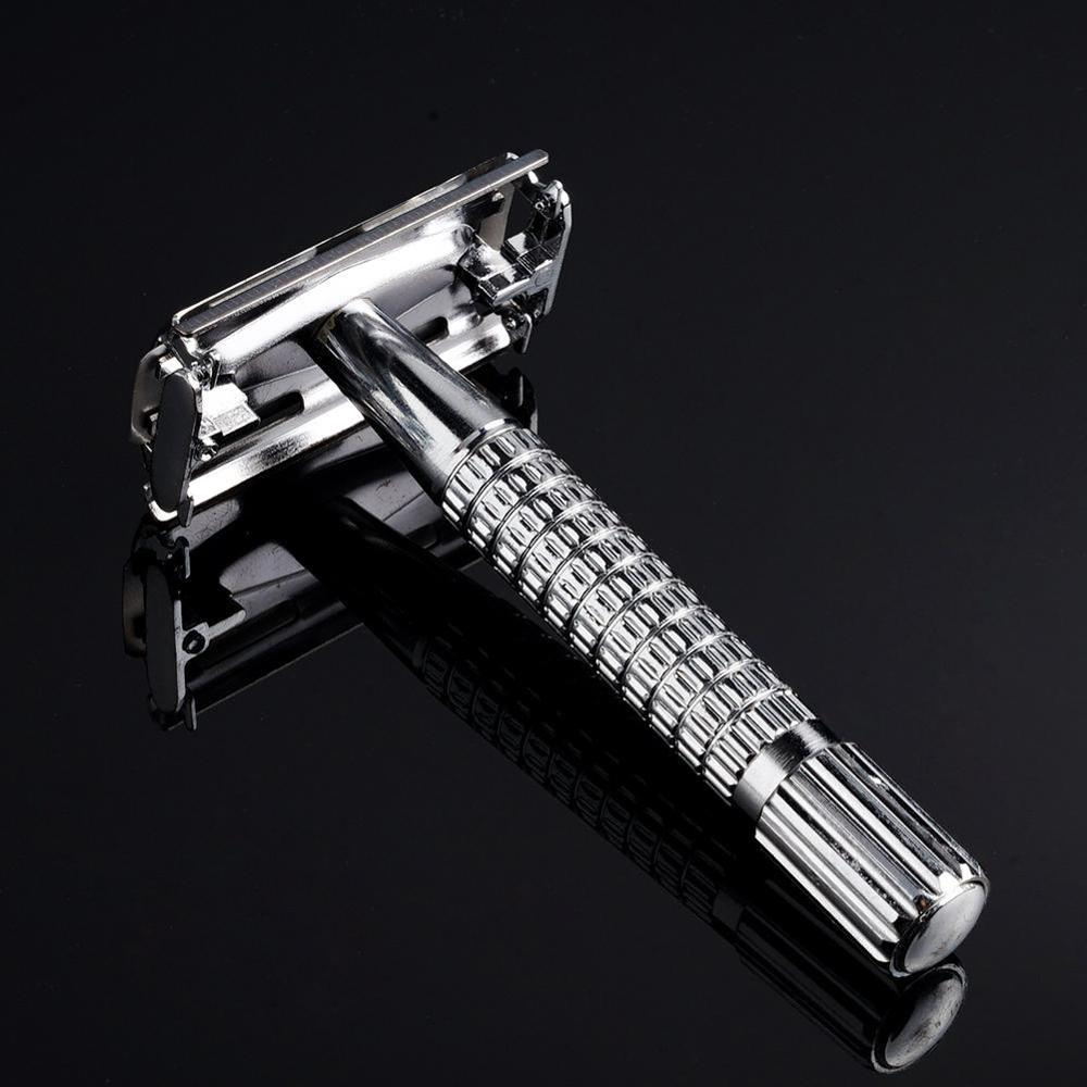 Safety Double Edge Razor For Men Barber Straight Razor Men's Shaving Face Razor Blades Shaving Machine
