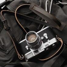מר. אבן בעבודת יד אמיתי עור מצלמה רצועת מצלמה כתף קלע חגורה (בציר ישן)