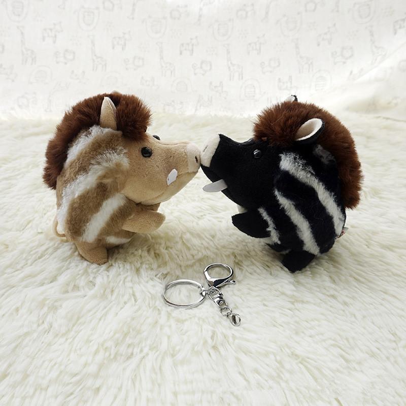 Cute Wool Plush Pig Key Chain Doll Toy Keychain Wild Boar Toy Keyring Pendant Bag Car Key Holder Cute Pendant Keychain