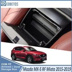 Dla Mazda MX-5 RF Miata 2015-2019 schowek na rękawiczki w samochodzie organizator podłokietnik dodatkowa taca konsoli środkowej do Mazda MX-5 RF Miata